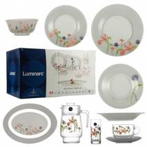 Столовий сервіз з кольорами Luminarc Rozana Trefle 46 предметів (N2171)