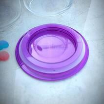 Набір банок для сипких Luminarc Pot Jar 3 шт з фіолетовими кришками (N3453)