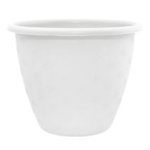 Маленький білий квітковий горщик 0.7л 13*10 см, квітковий вазон