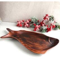Большое керамическое блюдо для рыбы 38 см, украинская керамика