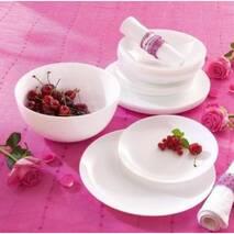 Сервиз столовый  белый гладкий Luminarc Diwali 19 предметов (H5869)