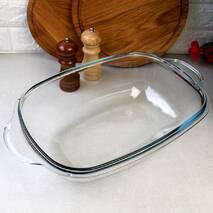 Велика скляна гусятница для духовки 8 л Simax, скляна каструля