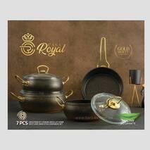 Набір каструль  сковорода, 7 предметів CASA ROYAL GOLD BEAUTY бронзовий (81-335)