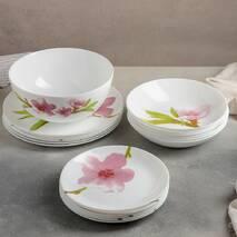 Столовый сервиз с розовой орхидеей с супником Luminarc Water Color 19 предметов (E4905)