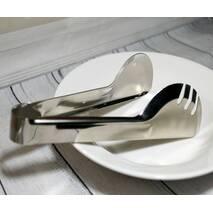 Щипці для салату і гарячого м'яса напівкруглі з нержавіючої сталі HLS (7624)
