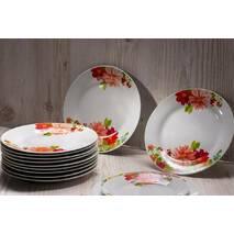 """Тарілка обідня кругла з кольорами 20.5 см 8""""  """"Айстра"""""""