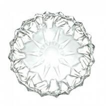 Блюдо кругле скляне плоске для фруктів HLS 33 cм (5104)