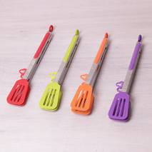 Щипці-лопатки силіконові 30.5см з ручками з нержавіючої сталі