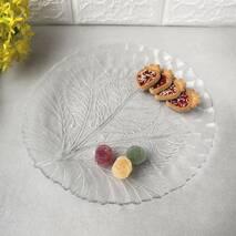 Блюдо кругле скляне для десертів без бортів Pasabahce Султана 320 мм (10287)