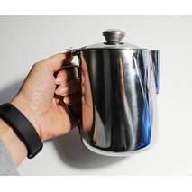 Джаг металевий для молока з нержавіючої сталі з кришкою 1000 мл (7668)