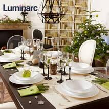 Набор стеклянных рюмок на чёрной ножке Luminarc Domino 65 мл (H8166)