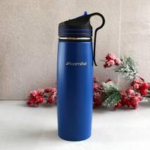 Спортивний термос-пляшка 500 мл з нержавіючої сталі з трубочкою і кліпсою Kamille