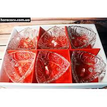 """Набір скляних салатників в подарунковій упаковці HLS """"Трикутник"""" (6362)"""