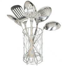 Набір кухонного начиння 6 предметів з підставкою-склянкою Kamille