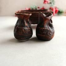 """Набор спецовниц """"Телега"""" из красной глины, украинская керамика"""
