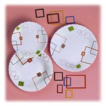 Сервіз столовий білий з абстракцією Arcopal 19 предметів Bounding Box (K4898)