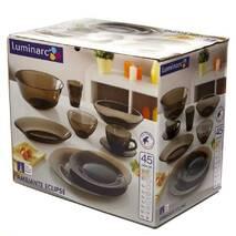 Сервиз столовый из дымчатого стекла с супником Luminarc Амбьянте Эклипс 45 предметов (L5181)