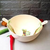 Большая салатная миска с салатными приборами 5,5 л