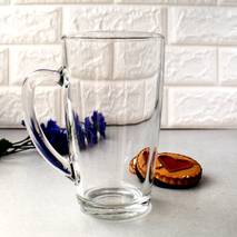 Великий конусний скляний кухоль для Капучіно ОСЗ 430 мл (9с1488)
