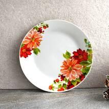 """Тарілка плоска обідня з кольорами 20.5 см 8""""  """"Айстра"""" (4396)"""