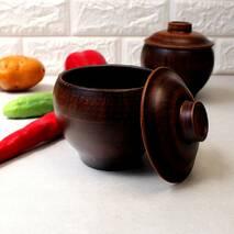 Горшочек для духовки 0.5 л, украинская керамика