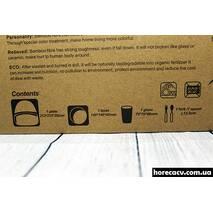 Дитячий посудний набір з бамбукової фібри 5 предметів Мавпочка HLS (4309)