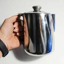 Джаг (питчер) з кришкою для молока з нержавіючої сталі 500 мл (7666)