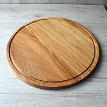 Велика дошка для піци Ø 450 мм, кухонні дерев'яні дошки