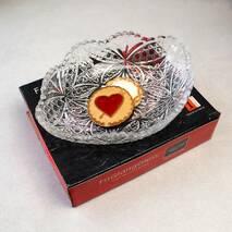 """Небольшое овальное стеклянное блюдо в подарочной упаковке HLS """"Хрусталь"""" 23*17*5 см (6356/1)"""