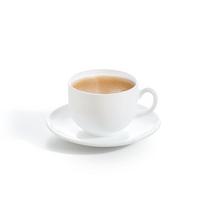 Кавовий сервіз білий із склокераміки Luminarc Essence White 6 шт 90 мл (P3404)