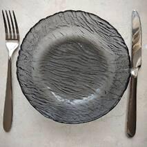 """Тарелка стеклянная суповая ОСЗ """"Вулкан"""" графит 750 мл (16с1897)"""