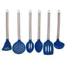 Набір синього кухонного начиння Kamille 6 предметів