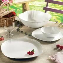 Овальное белое блюдо с волнистыми углами Luminarc Lotusia 340х230 мм (L2352)