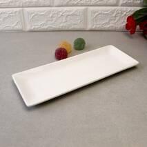 Тарелка прямоугольная фарфоровая 10″ HLS Extra white 250х95 мм. (W0174)