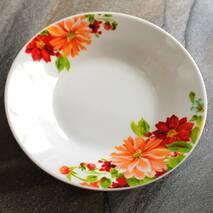 """Тарілка супова кругла з кольорами 204 мм 8""""  """"Айстра"""""""