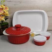 Набір керамічного посуду для запікання 8 предметів Kamille