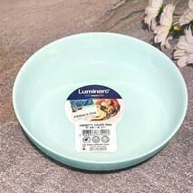 Лазурная десертная тарелка с высокими бортиками Luminarc Friend Time Turquoise 17 см (P6364)