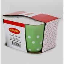 Набір чайних кухлів в горох з тисненням HLS 270 мл 4 шт