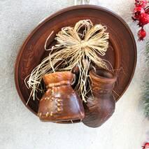 Тарелка декоративная подвесная Оберег, керамический оберег для дома