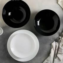 Черно-белый столовый набор посуды Luminarc Diwali Black&White 19 предметов (P4360)