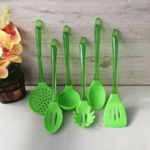 Набір зеленого кухонного начиння Kamille 6 предметів