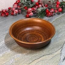 Гончарная миска из красной глины 180 мм, украинская керамика (51)