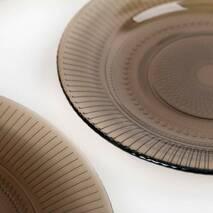 """Тарелка подставная стеклянная коричневая Luminarc """"Луиз"""" эклипс 250 мм (N6766)"""