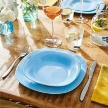 Бирюзовая глубокая тарелка для первых блюд Luminarc Carine Light Blue 200 мм (P4250)