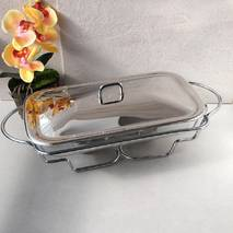 Марміт скляний 3л з металевою кришкою і підставкою
