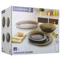 Столовый сервиз коричневый стеклянный Luminarc Амбьянте эклипс 19 предметов (L5176)