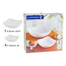Столовый сервиз белый квадратный Luminarc Lotusia 5 пред (J3189)