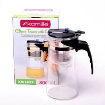 Заварювальний чайник для чаю скляний Kamille зі знімним ситечком 800 мл
