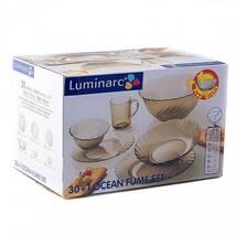 Столовый стеклянный сервиз из дымчатого стекла Luminarc Ocean Eclipse 31 предметов (L5109)