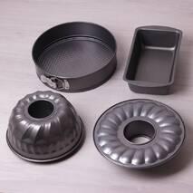 Набір форм для випічки Kamille 3шт (кругла роз'ємна Ø26*7см; для кексу Ø22*8см; прямокутна 28*15*7см)